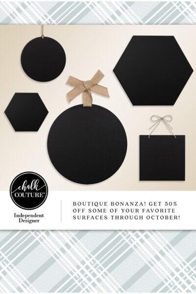 Chalk Couture October Special- Boutique Board Bonanza!
