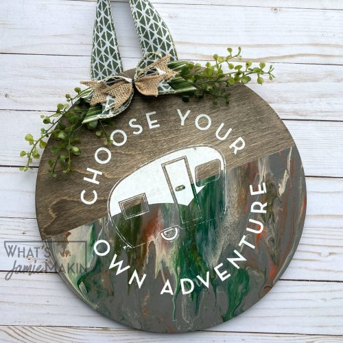Wood Door Hanger and Acrylic Paint Pour Combo 😲 | Wooden Round